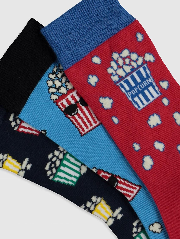 Erkek Baskılı Soket Çorap 3'lü
