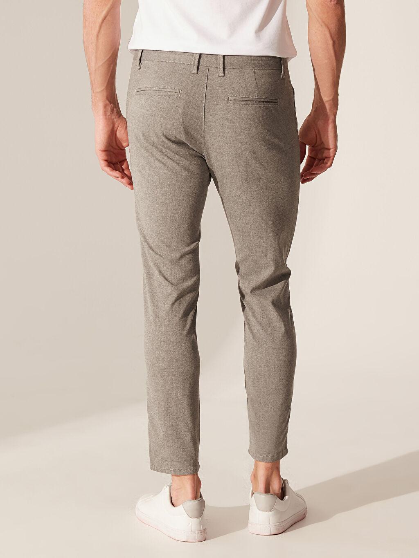 %64 Polyester %2 Elastan %34 Viskon Slim Fit Poliviskon Pantolon