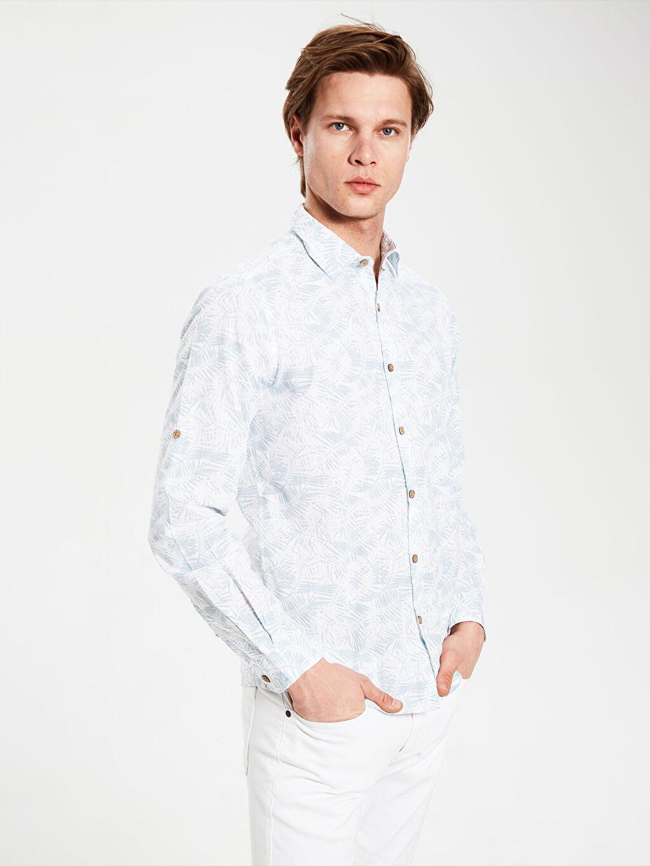 Mavi Ekstra Slim Fit Desenli Gömlek 0SJ768Z8 LC Waikiki