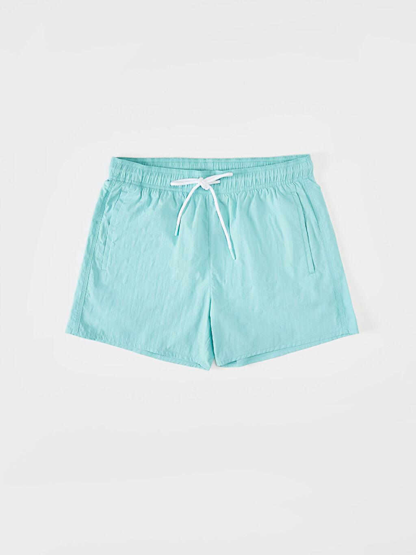 %100 Poliamid Diz Üstü Boy Basic Deniz Şortu