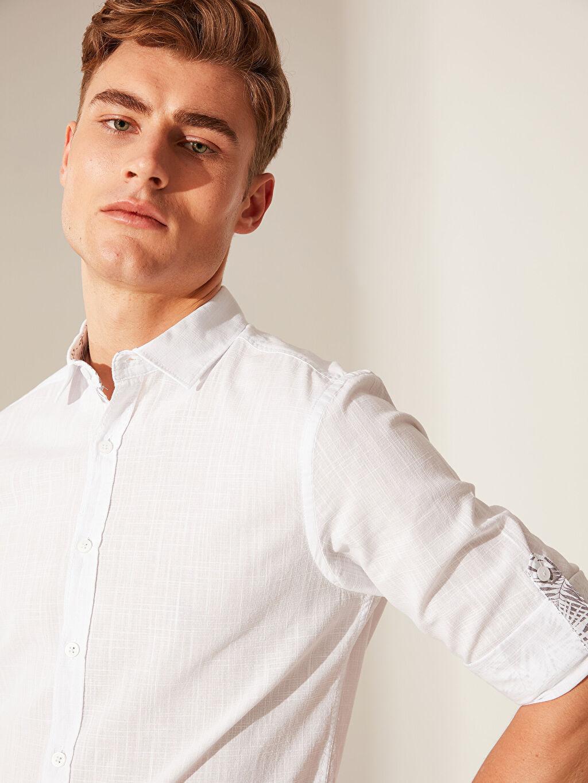 Erkek Ekstra Slim Fit Basic Gömlek