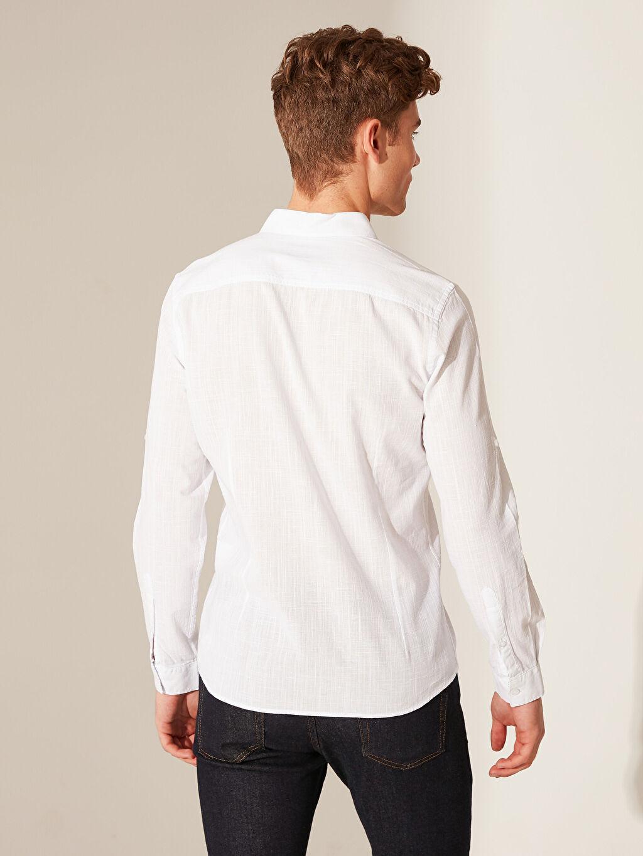 %100 Pamuk Ekstra Slim Fit Basic Gömlek