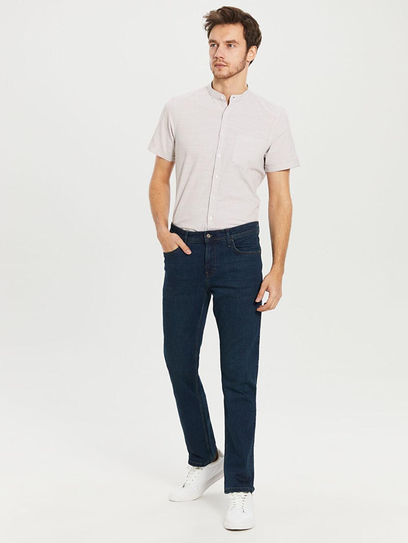 %98 Pamuk %2 Elastan Jean Normal Bel Normal 879 Regular Fit Jean Pantolon