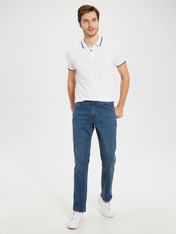%98 Pamuk %2 Elastan Normal Bel Normal Jean 879 Regular Fit Jean Pantolon