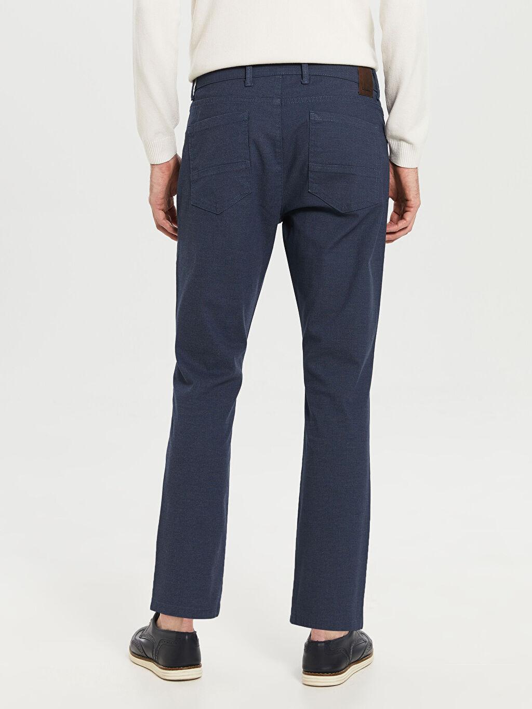 %76 Pamuk %21 Polyester %3 Elastan Normal Bel Dar Pilesiz Pantolon