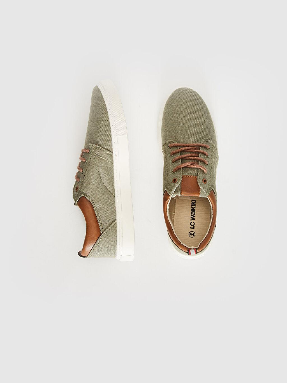 %0 Diğer malzeme (pvc) %0 Tekstil malzemeleri (%100 pamuk)  Erkek Bağcıklı Günlük Ayakkabı