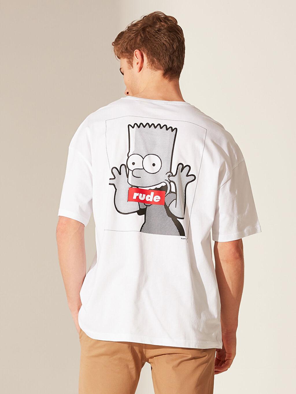 %100 Pamuk Bart Simpson Oversize Tişört