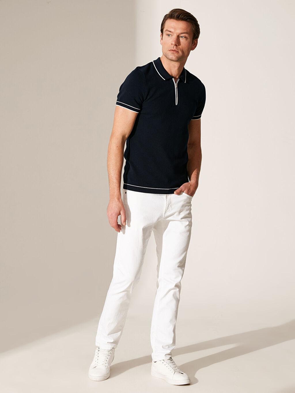 %100 Pamuk Polo Yaka İnce Triko Tişört