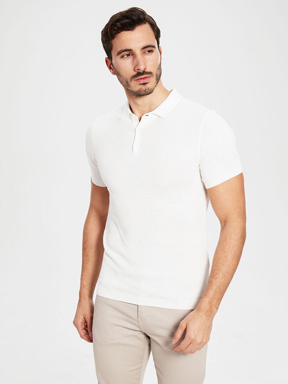 Erkek Polo Yaka Dokulu Tişört