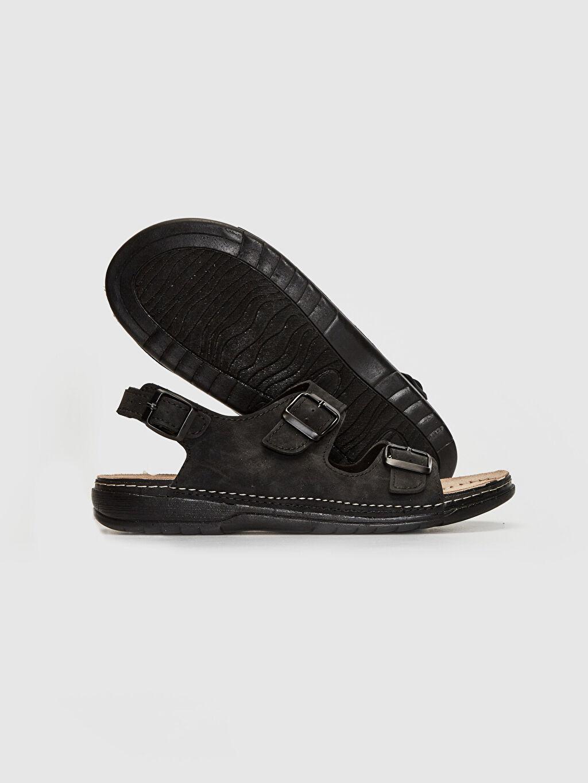 Erkek Erkek Çift Bantlı Tokalı Sandalet