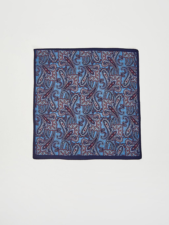 %100 Polyester Desenli Kravat, Mendil ve Rozet 3'lü