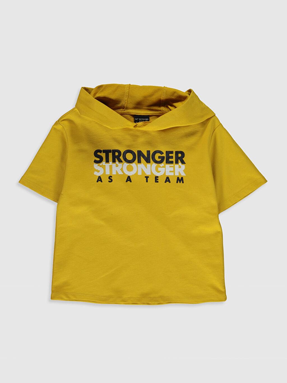 Sarı Erkek Çocuk Kısa Kollu Sweatshirt 0SO570Z4 LC Waikiki