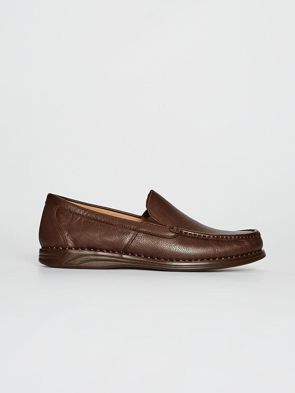 Kahverengi Erkek Hakiki Deri Loafer Ayakkabı 0SO639Z8 LC Waikiki