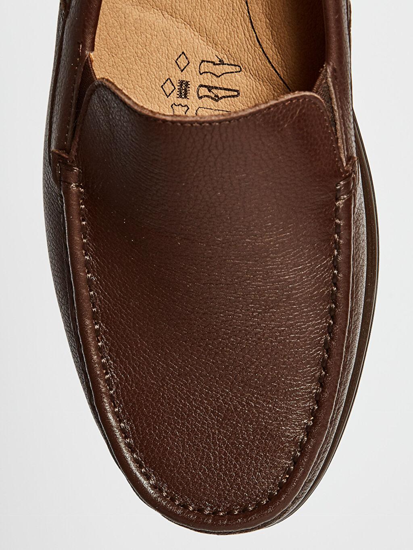 LC Waikiki Kahverengi Erkek Hakiki Deri Loafer Ayakkabı