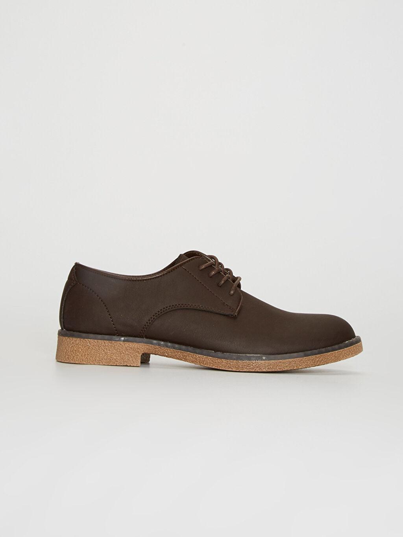 Kahverengi Erkek Bağcıklı Klasik Derby Ayakkabı 0SA352Z8 LC Waikiki