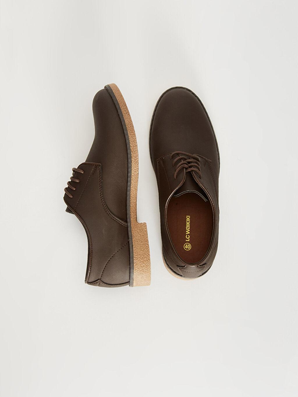 Diğer malzeme (pvc)  Erkek Bağcıklı Klasik Derby Ayakkabı