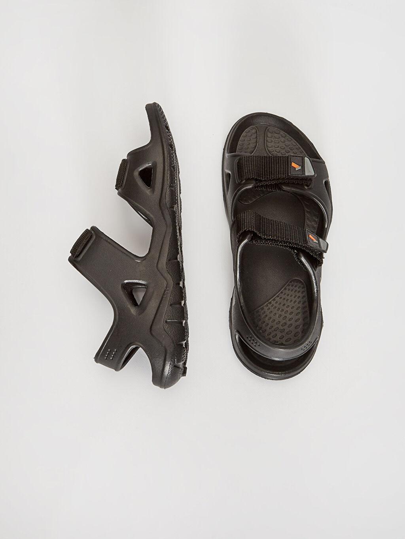 %0 Diğer malzeme (eva) %0 Tekstil malzemeleri ( %100 polyester)  Erkek Çift Bantlı Cırt Cırtlı Sandalet