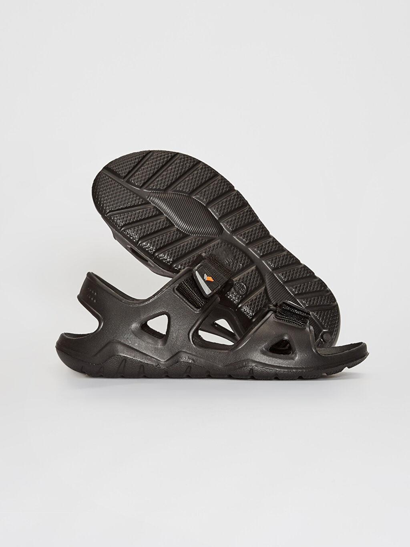 Erkek Erkek Çift Bantlı Cırt Cırtlı Sandalet