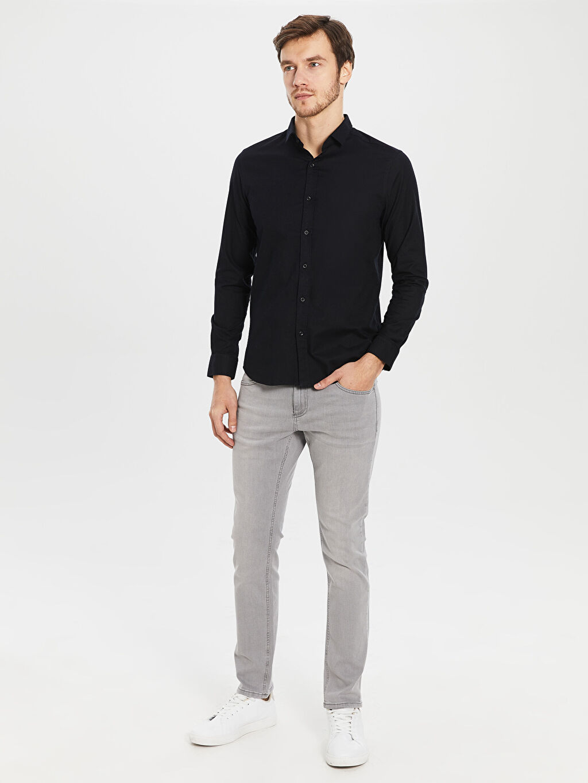 %70 Pamuk %27 Polyester %3 Elastan Slim Fit Oxford Gömlek