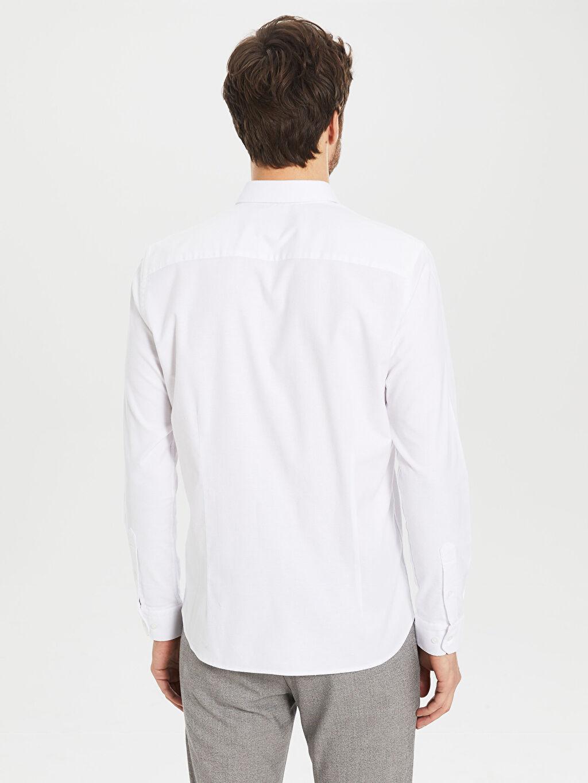 Erkek Slim Fit Oxford Gömlek