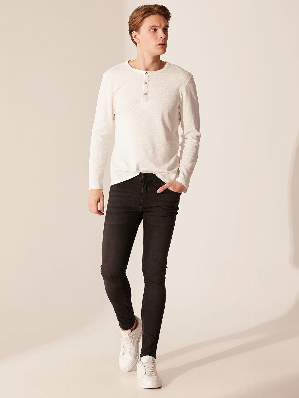%89 Pamuk %8 Polyester %3 Elastan Normal Bel Extra Dar Jean 770 Super Skinny Fit Jean Pantolon