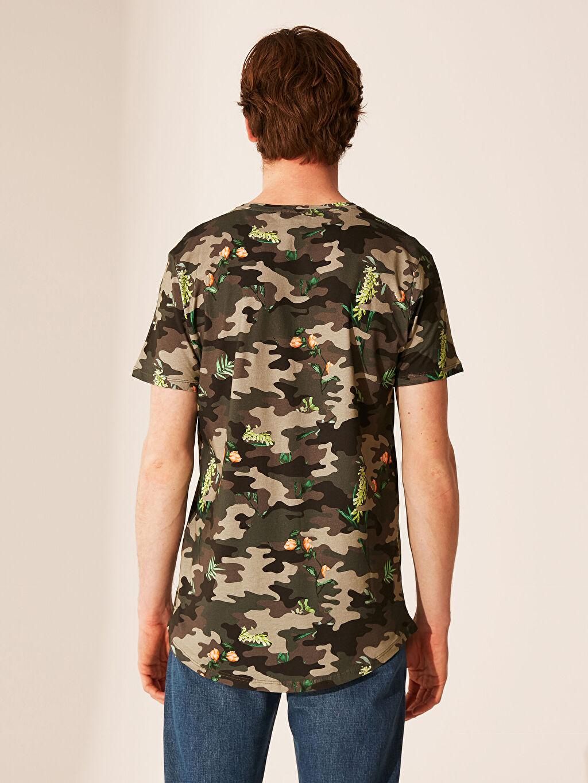 Erkek Overlong Kamuflaj Desenli Tişört