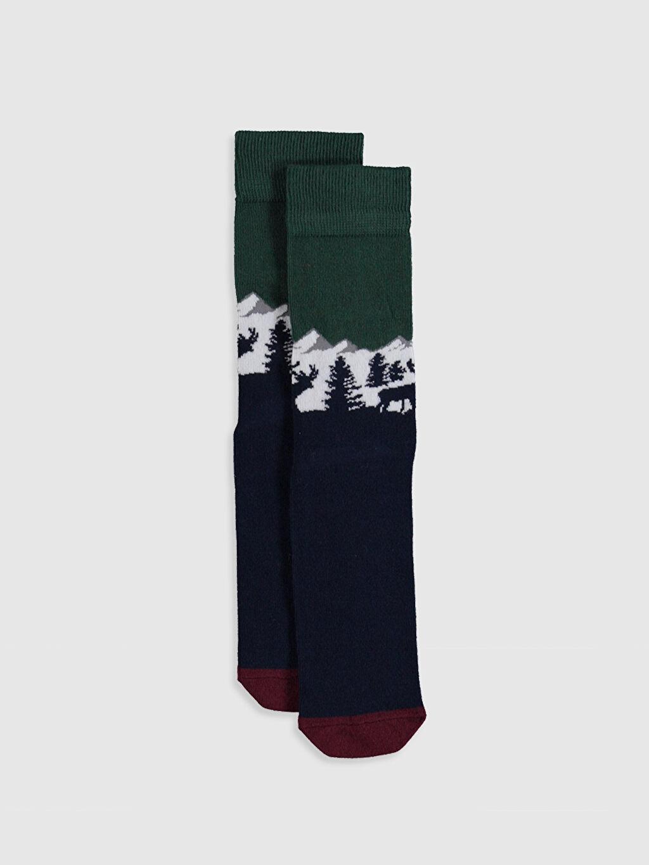%85 Pamuk %13 Poliamid %2 Elastan  Yılbaşı Temalı Soket Çorap