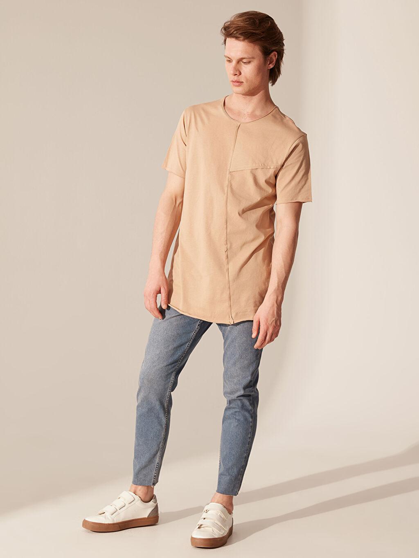 %100 Pamuk Overlong Basic Tişört