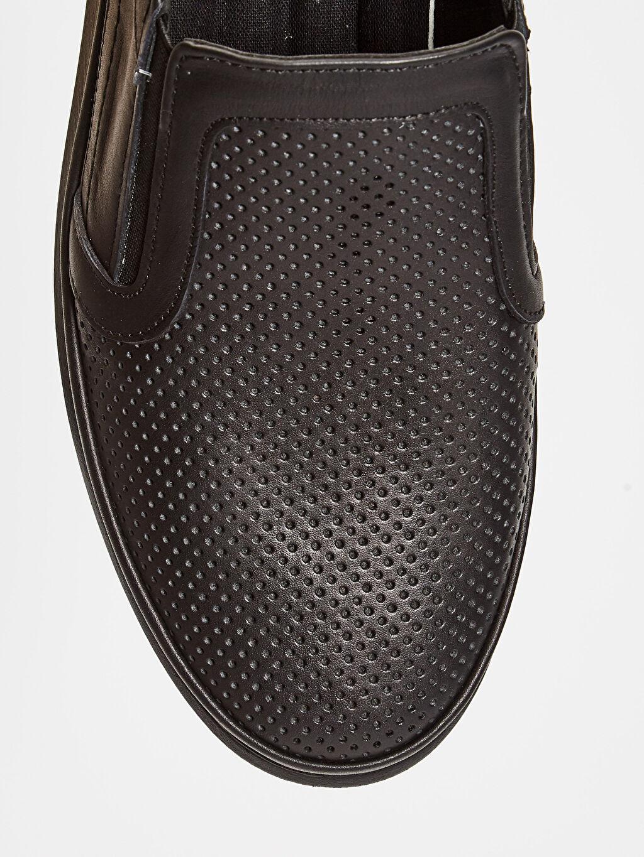 LC Waikiki Siyah Erkek Hakiki Deri Klasik Konfor Ayakkabı