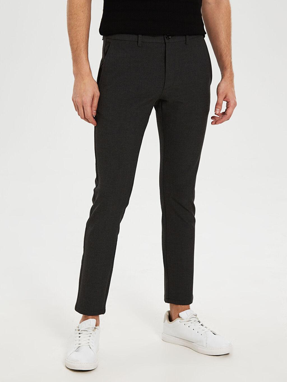 %32 Poliester %64 Vıscose %4 Elastane Slim Fit Bilek Boy Pantolon