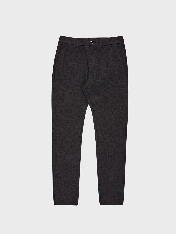 Antrasit Slim Fit Bilek Boy Pantolon