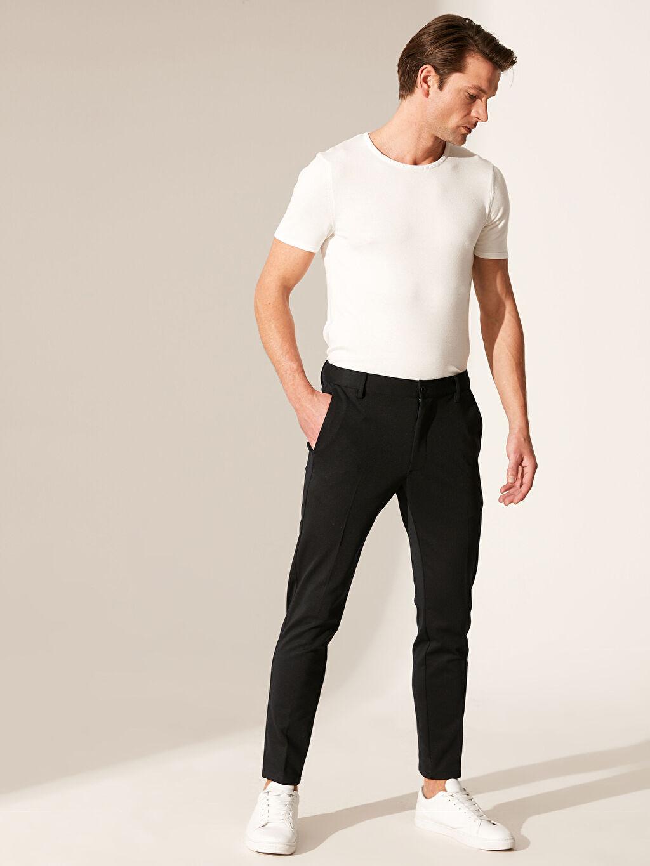 Lacivert Slim Fit Poliviskon Pantolon 0SE659Z8 LC Waikiki
