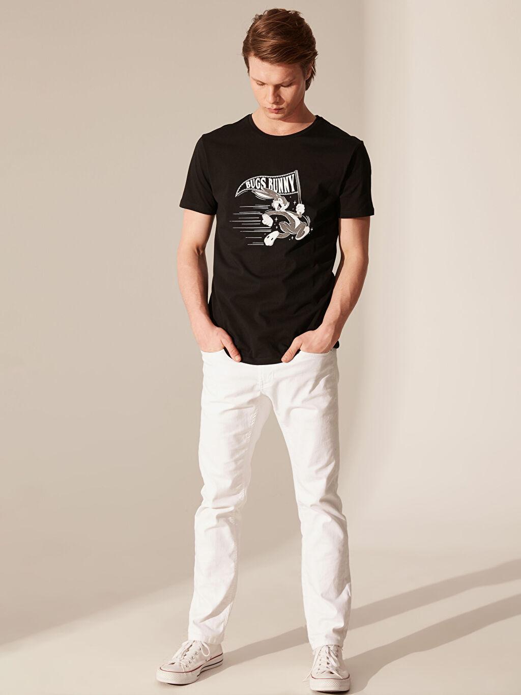 %100 Pamuk Bugs Bunnny Baskılı Pamuklu Tişört