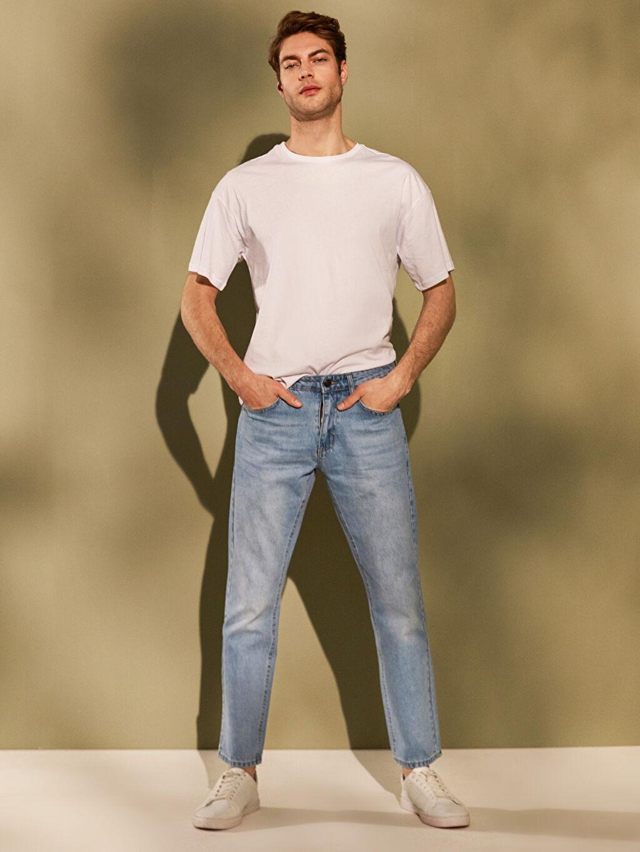 %100 Pamuk Normal Bel Normal Jean 779 Regular Fit Jean Pantolon