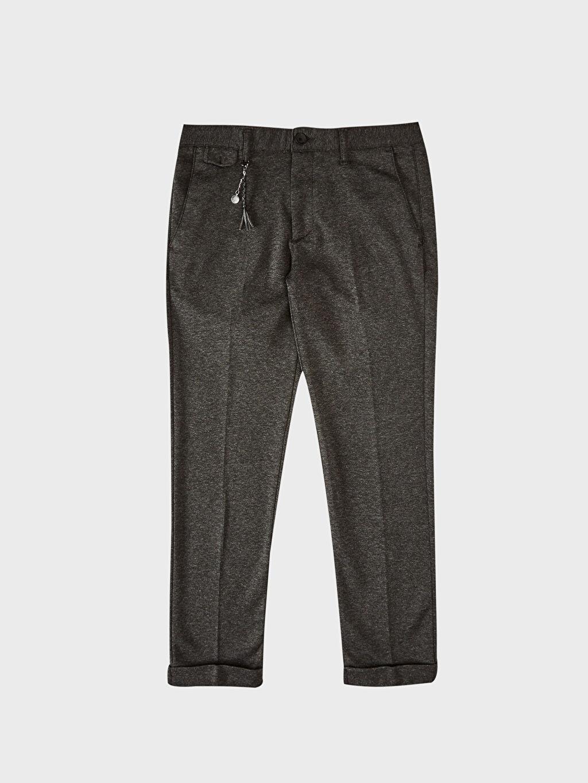 Slim Fit Poliviskon Pantolon