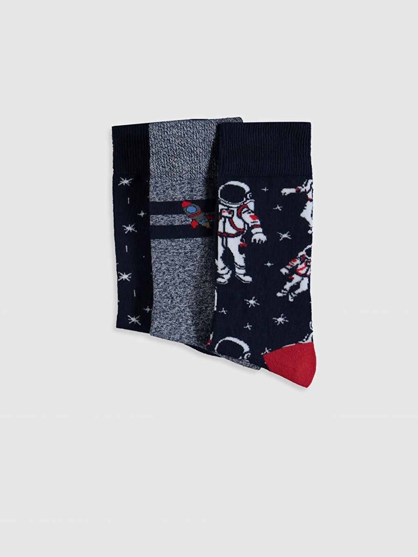 Erkek Desenli Soket Çorap 3'lü