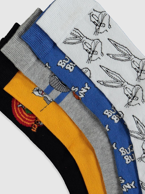 Erkek Bugs Bunny Baskılı Soket Çorap 5'li