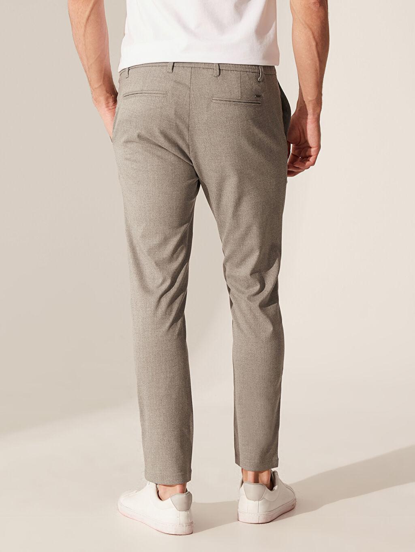 %64 Polyester %2 Elastan %34 Viskon Slim Fit Esnek Viskon Pantolon