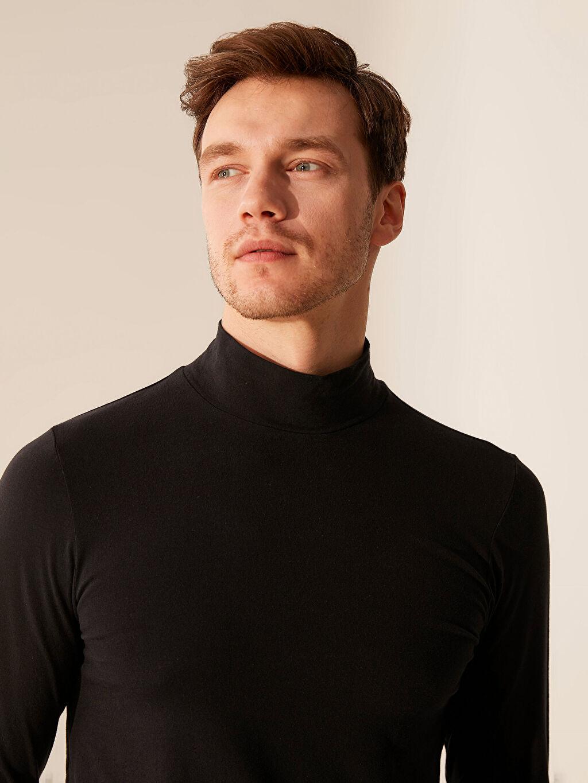 Erkek Yarım Balıkçı Yaka Basic Tişört