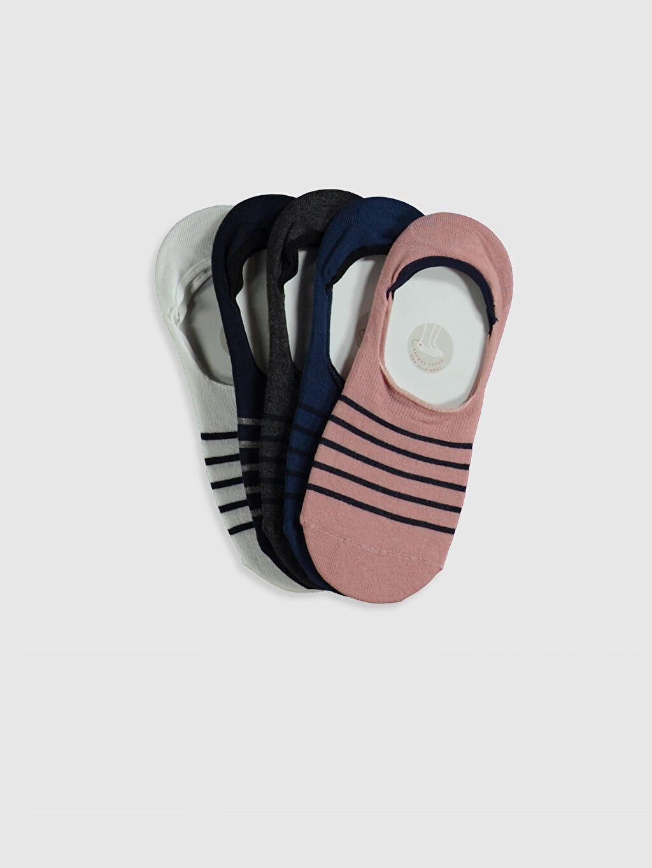 Çok Renkli Çizgili Babet Çorap 5'li 0SS694Z8 LC Waikiki