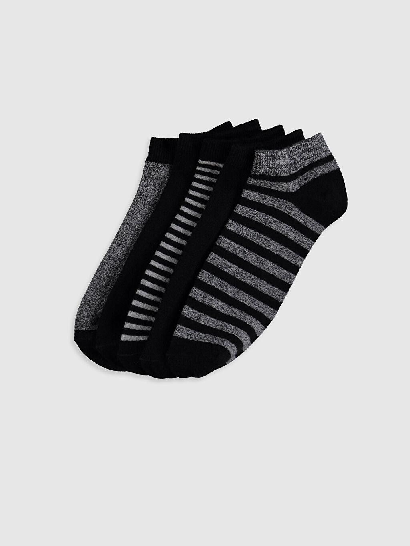 Çok Renkli Çizgili Patik Çorap 5'li 0SS722Z8 LC Waikiki