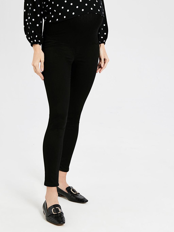 %67 Pamuk %29 Polyester %4 Elastan Pantolon Skinny Hamile Pantolon