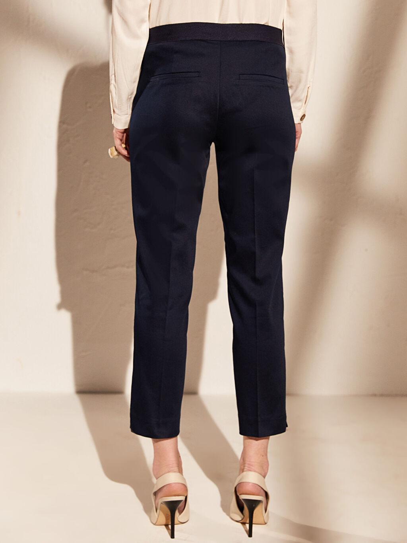 Kadın Bilek Boy Saten Pantolon