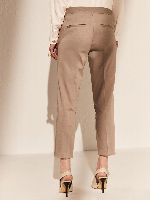 %66 Pamuk %31 Polyester %3 Elastan Bilek Boy Saten Pantolon
