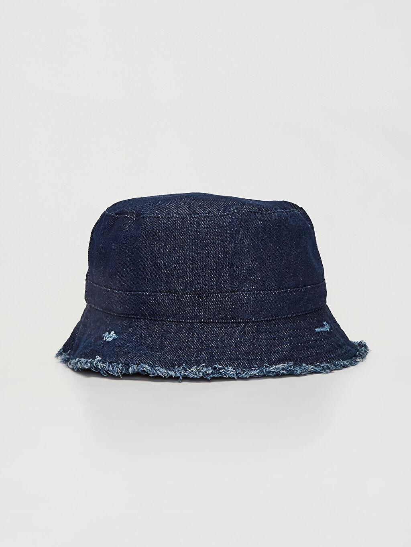 Lacivert Gabardin Bucket Şapka 0S1665Z8 LC Waikiki