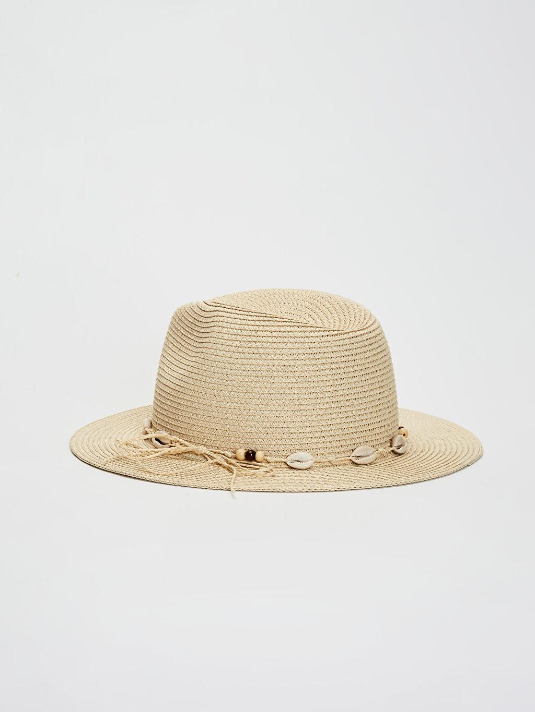 Bej Hasır Şapka 0S2043Z8 LC Waikiki