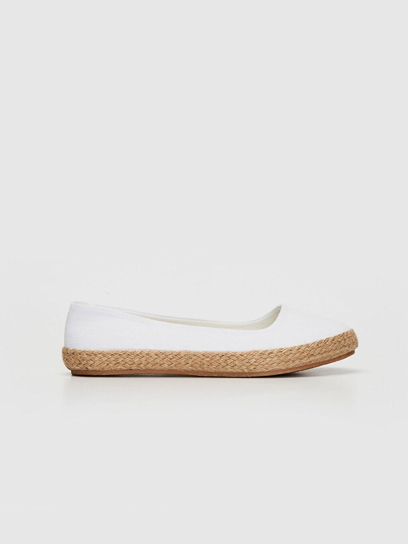 Beyaz Kadın Espadril Babet Ayakkabı 0S4885Z8 LC Waikiki