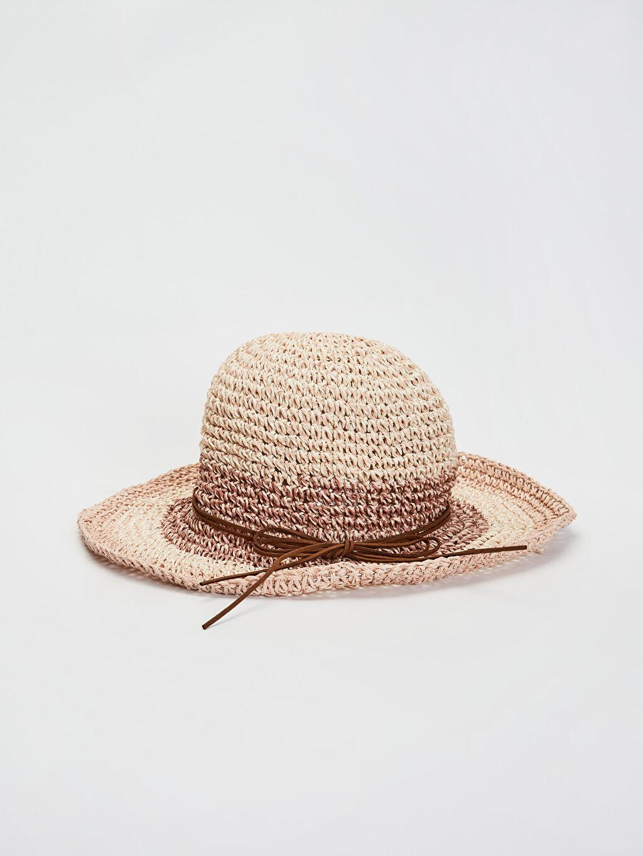 Pembe Hasır Fötr Şapka 0S6877Z8 LC Waikiki
