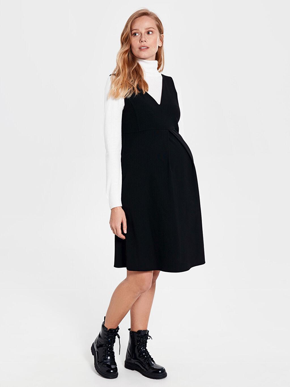 Siyah Elbise 0S7012Z8 LC Waikiki