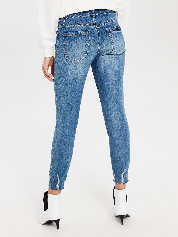 Kadın Normal Bel Esnek Dar Jean